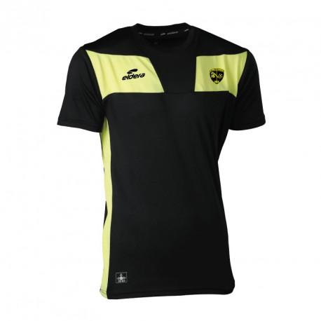 T-Shirt 10NAMIK Noir/Jaune + Logo club