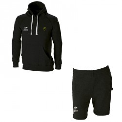 Ensemble Sweat + Bermuda BATLEBOA Noir Cordon Jaune + Logo club