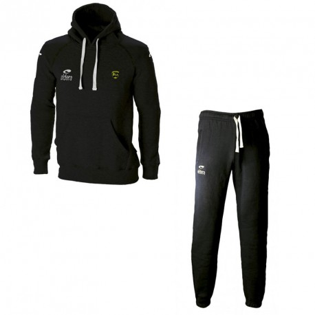 Ensemble Sweat + Pantalon BATLEBOA Noir Cordon Jaune + Logo club